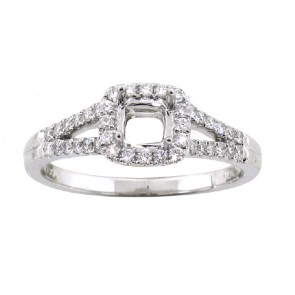 .34ct Diamond Halo Engagement Ring