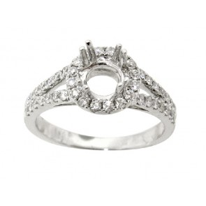 .51ct Round Halo Engagement Ring