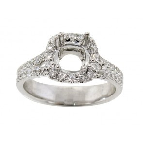 0.58ct Halo Diamond Engagement Ring