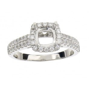 0.56ct Diamond Halo Engagement Ring