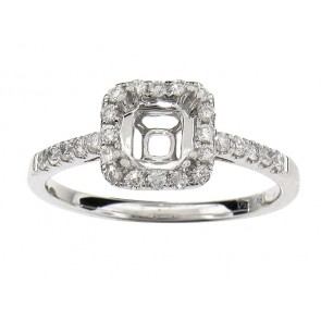 0.31ct Diamond Halo Engagement Ring